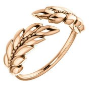 Giacobbe & Company 14k Rose Gold 14K White, Yellow, or Rose Gold Leaf Negative Space Ring