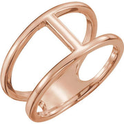 Giacobbe & Company 14k Rose Gold 14K White, Yellow, or Rose Gold Negative Space Ring