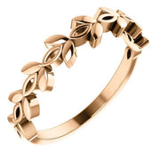Giacobbe & Company 14k Rose Gold 14K White, Yellow, or Rose Gold Stackable Marquise Design Ring