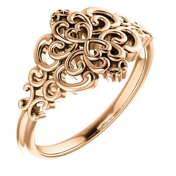Giacobbe & Company 14k Rose Gold 14K White, Yellow, or Rose Gold Vintage-Inspired Ring