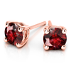 Giacobbe & Company 14k Rose Gold 18K GOLD RUBY STUD EARRINGS (6MM)