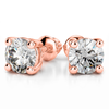 Giacobbe & Company 14k Rose Gold 18K WHITE GOLD ROUND 2.00CTW VS2-SI1 G-H SCREW-BACK DIAMOND STUD EARRINGS