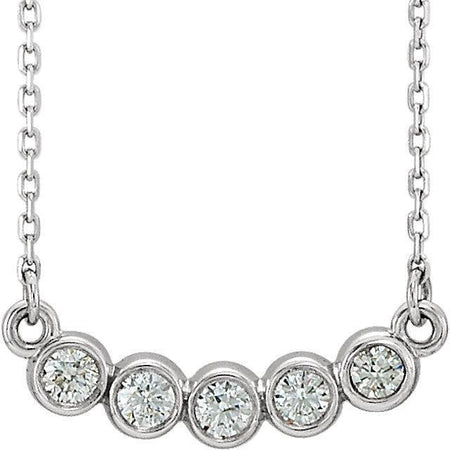 "Giacobbe & Company 14k White 14K White, Yellow, or Rose Gold 1/3 CTW Diamond Bezel Set 18"" Necklace"