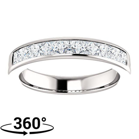 Giacobbe & Company 14K White Gold 1-3/8 CTW Square Diamond Wedding Band
