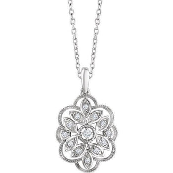 "Giacobbe & Company 14K White Gold 1/6 CTW Diamond 16-18"" Necklace"