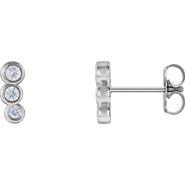 Giacobbe & Company 14k White Gold 14K White, Yellow, or Rose Gold .07 CTW Diamond Petite Ear Climbers
