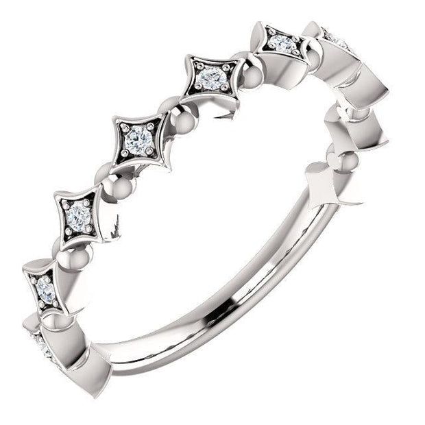 Giacobbe & Company 14k White Gold 14K White, Yellow, or Rose Gold 1/10 CTW Diamond Stackable Ring