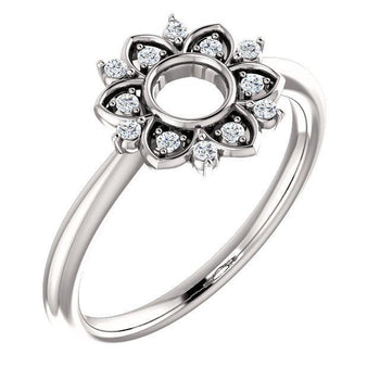 Giacobbe & Company 14k White Gold 14K White, Yellow, or Rose Gold 1/10 CTW Diamond Starburst Ring