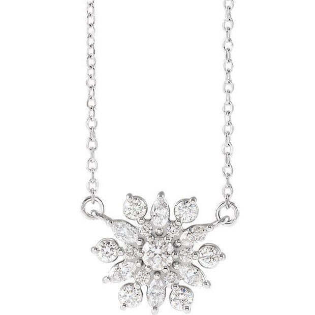 "Giacobbe & Company 14k White Gold 14K White, Yellow, or Rose Gold 1/2 CTW Diamond Vintage-Inspired 16"" Necklace"