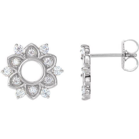Giacobbe & Company 14k White Gold 14K White, Yellow, or Rose Gold 1/3 CTW Diamond Earrings