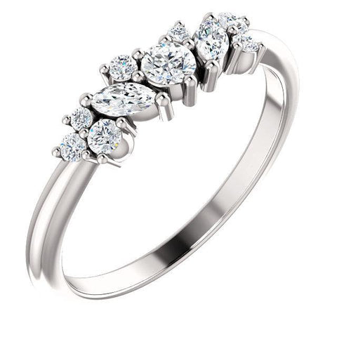 Giacobbe & Company 14k White Gold 14K White, Yellow, or Rose Gold 1/3 CTW Diamond Multi-Shape Ring
