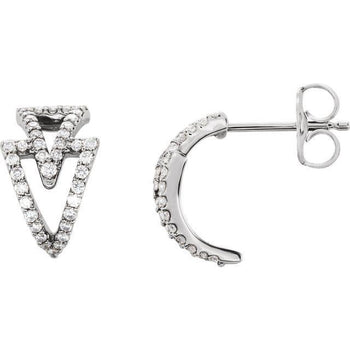 Giacobbe & Company 14k White Gold 14K White, Yellow, or Rose Gold 1/4 CTW Diamond Geometric Earrings