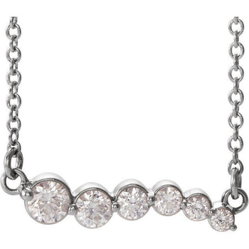 "Giacobbe & Company 14k White Gold 14K White, Yellow, or Rose Gold 1/4 CTW Diamond Graduated 18"" Necklace"