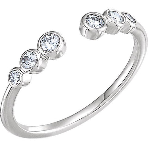 Giacobbe & Company 14k White Gold 14K White, Yellow, or Rose Gold 1/4 CTW Diamond Negative Space Ring