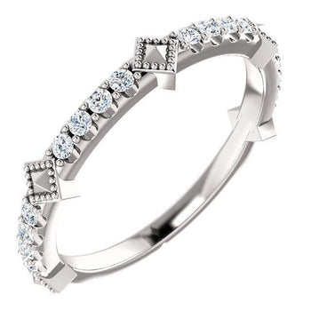 Giacobbe & Company 14k White Gold 14K White, Yellow, or Rose Gold 1/4 CTW Diamond Stackable Ring