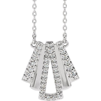 "Giacobbe & Company 14k White Gold 14K White, Yellow, or Rose Gold 1/5 CTW Diamond Art Deco 16"" Necklace"