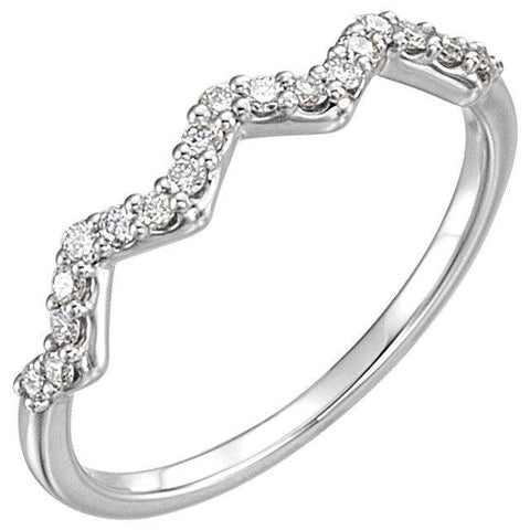 Giacobbe & Company 14k White Gold 14K White, Yellow, or Rose Gold 1/5 CTW Diamond Stackable Ring