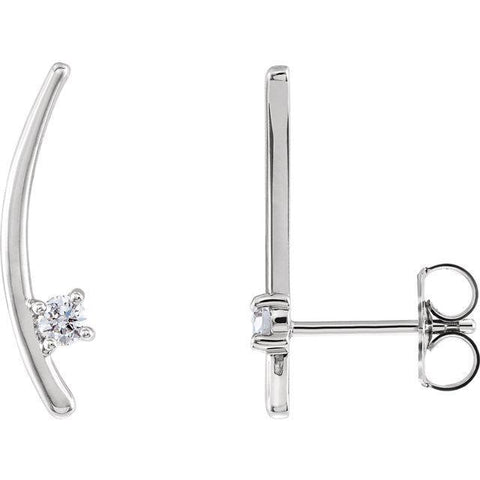 Giacobbe & Company 14k White Gold 14K White, Yellow, or Rose Gold 1/8 CTW Diamond Ear Climbers