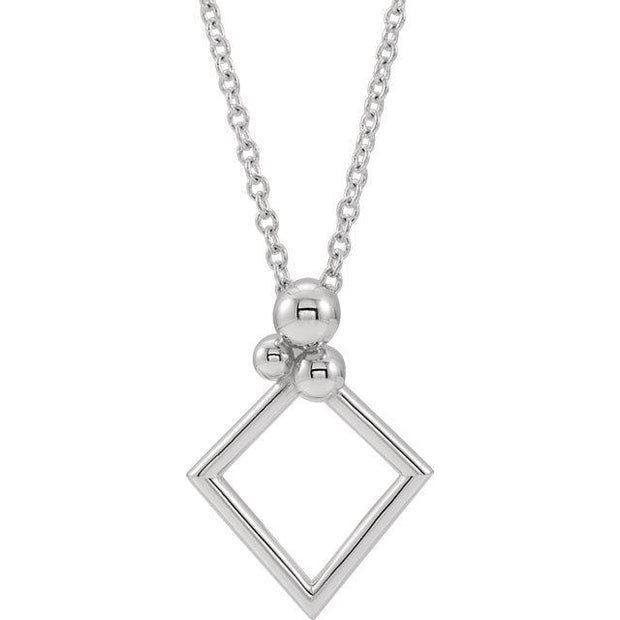"Giacobbe & Company 14k White Gold 14K White, Yellow, or Rose Gold 16-18"" Geometric Necklace"