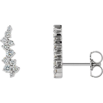 Giacobbe & Company 14k White Gold 14K White, Yellow, or Rose Gold 3/8 CTW Diamond Ear Climbers