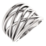 Giacobbe & Company 14k White Gold 14K White, Yellow, or Rose Gold Criss-Cross Ring
