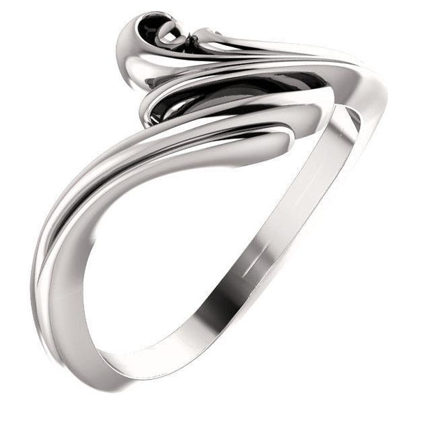 Giacobbe & Company 14k White Gold 14K White, Yellow, or Rose Gold Freeform Bypass Ring