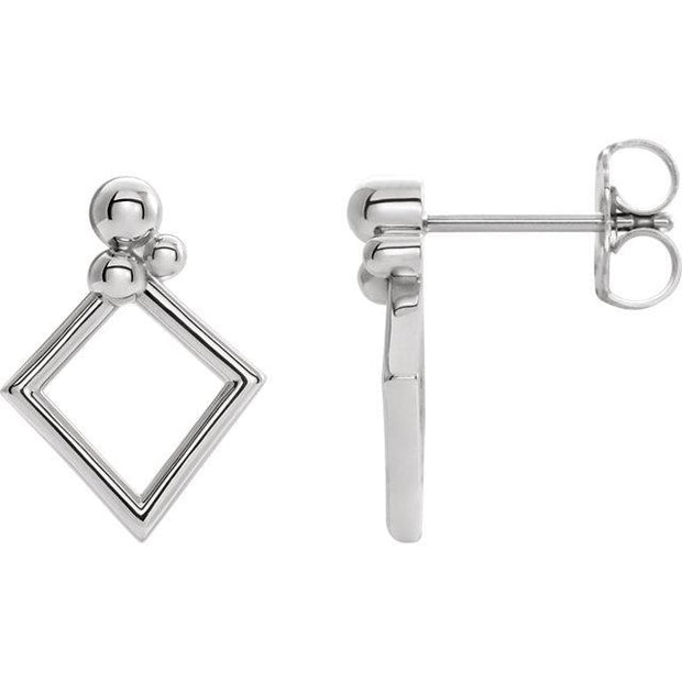 Giacobbe & Company 14k White Gold 14K White, Yellow, or Rose Gold Geometric Earrings