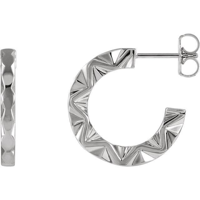 dbd7ebff6 ... Earrings Giacobbe & Company 14k White Gold 14K White, Yellow, or Rose  Gold Geometric Hoop ...