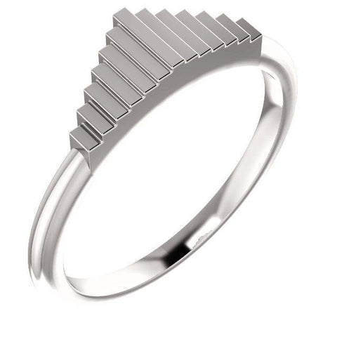 Giacobbe & Company 14k White Gold 14K White, Yellow, or Rose Gold Geometric Stackable Ring
