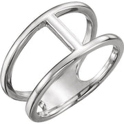 Giacobbe & Company 14k White Gold 14K White, Yellow, or Rose Gold Negative Space Ring