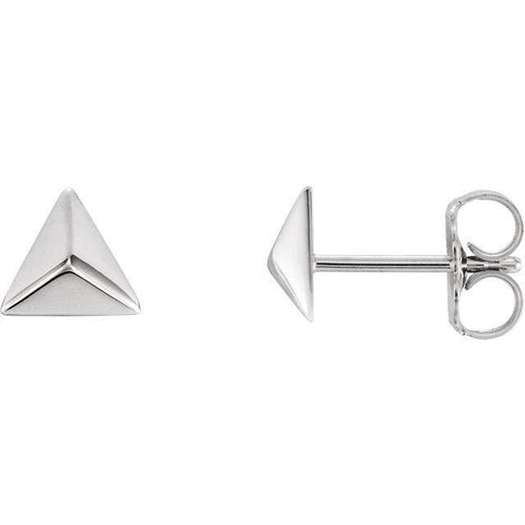 Giacobbe & Company 14k White Gold 14K White, Yellow, or Rose Gold Pyramid Earrings
