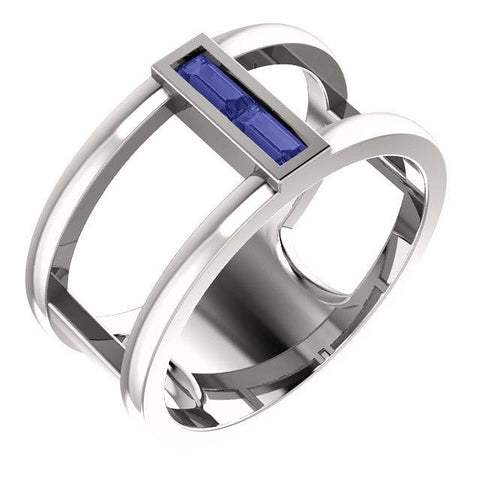 Giacobbe & Company 14k White Gold 14K White, Yellow, or Rose Gold Tanzanite Baguette Ring