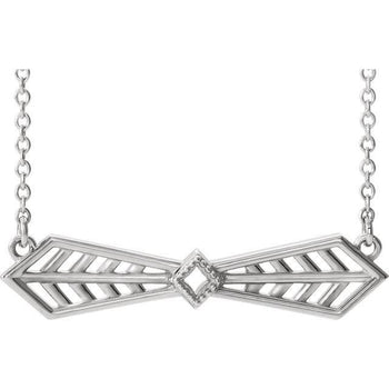 "Giacobbe & Company 14k White Gold 14K White, Yellow, or Rose Gold Vintage-Inspired Bar 16"" Necklace"