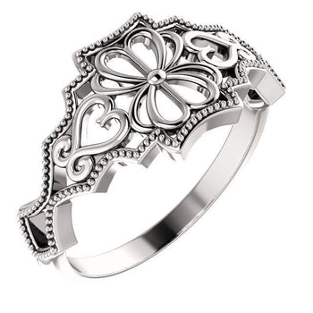 Giacobbe & Company 14k White Gold 14K White, Yellow, or Rose Gold Vintage-Inspired Ring