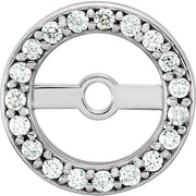 Giacobbe & Company 14K White Gold 5.15mm Halo Style 1/8 CTW Diamond Earring Jackets