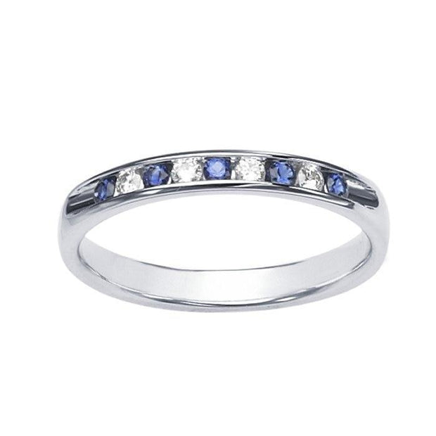 Giacobbe & Company 14K White Gold Channel-Set Sapphire and Diamonds