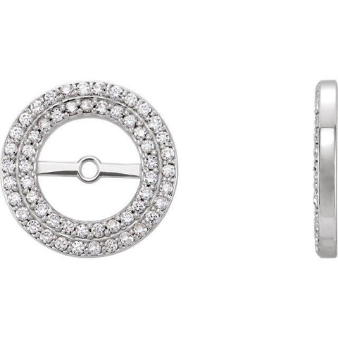Giacobbe & Company 14K White Gold Double Halo-Style .25 CTW Diamond Earring Jackets