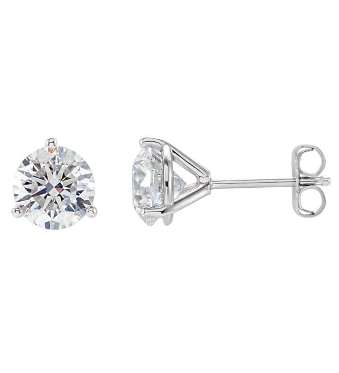 1fe72a4c8 1 5 2 Ctw Si2 3 G H Diamond Tail Style Stud Earrings