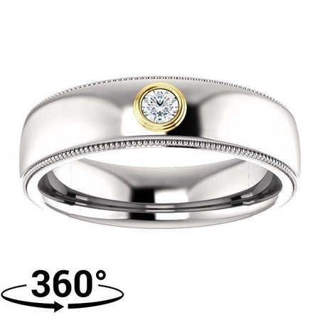 Giacobbe & Company 14K White & Yellow Gold 1/10 CTW Men's Diamond Ring