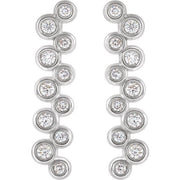Giacobbe & Company 14K White, Yellow, or Rose Gold 1/3 CTW Diamond Bezel-Set Drop Earrings