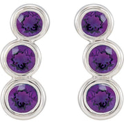 Giacobbe & Company 14K White, Yellow, or Rose Gold Amethyst Ear Climbers