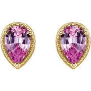 Giacobbe & Company 14K White, Yellow, or Rose Gold Pink Sapphire Earrings