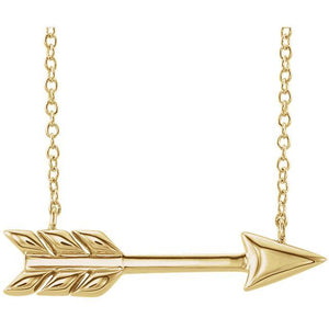 14K Yellow Arrow 16