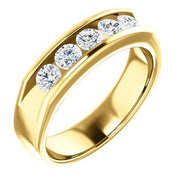 Giacobbe & Company 14K Yellow Gold 1-1/8 CTW Round Diamond Wedding Band