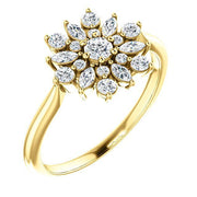 Giacobbe & Company 14k Yellow Gold 14K White, Yellow, or Rose Gold 1/2 CTW Diamond Vintage-Inspired Ring