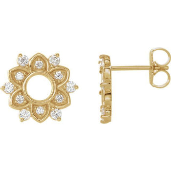 Giacobbe & Company 14k Yellow Gold 14K White, Yellow, or Rose Gold 1/3 CTW Diamond Earrings