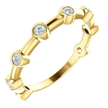 Giacobbe & Company 14k Yellow Gold 14K White, Yellow, or Rose Gold 1/4 CTW Diamond Bezel Set Bar Ring