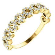 Giacobbe & Company 14k Yellow Gold 14K White, Yellow, or Rose Gold 1/4 CTW Diamond Circle Ring