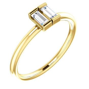Giacobbe & Company 14k Yellow Gold 14K White, Yellow, or Rose Gold 1/4 CTW Diamond Two-Stone Ring