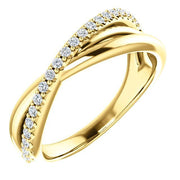 Giacobbe & Company 14k Yellow Gold 14K White, Yellow, or Rose Gold 1/5 CTW Diamond Criss-Cross Ring